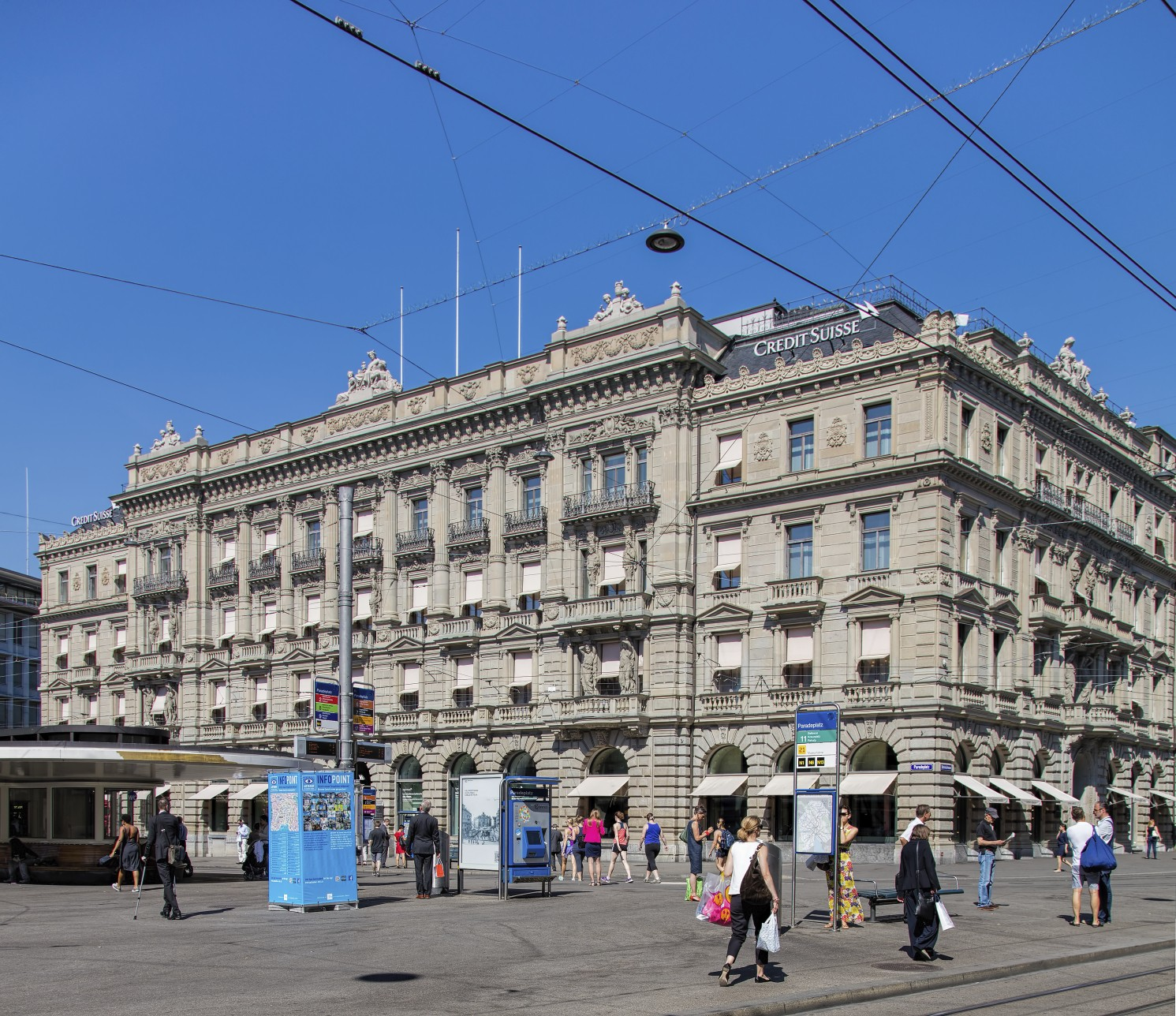 credit suisse building in zurich